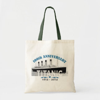 Aniversario de hundimiento titánico de 100 años bolsa tela barata