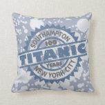 Aniversario de hundimiento titánico de 100 años cojin