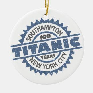 Aniversario de hundimiento titánico de 100 años ornamento de navidad