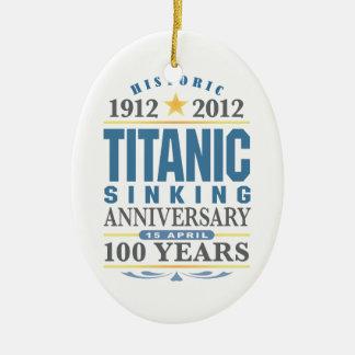 Aniversario de hundimiento titánico de 100 años ornamentos de reyes