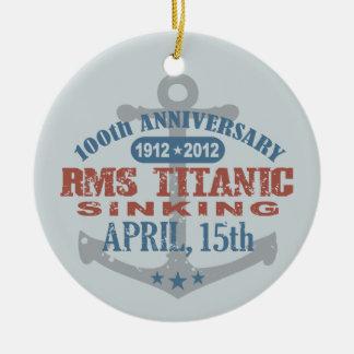 Aniversario de hundimiento titánico de 100 años ornamentos de navidad