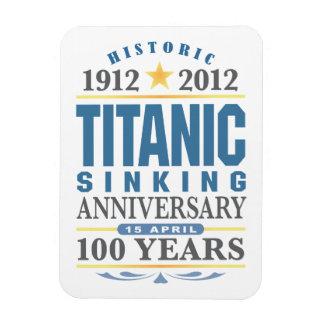 Aniversario de hundimiento titánico de 100 años iman de vinilo
