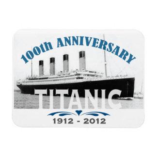 Aniversario de hundimiento titánico de 100 años imanes flexibles