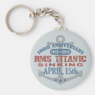 Aniversario de hundimiento titánico de 100 años llavero
