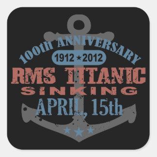 Aniversario de hundimiento titánico de 100 años pegatina cuadradas personalizadas