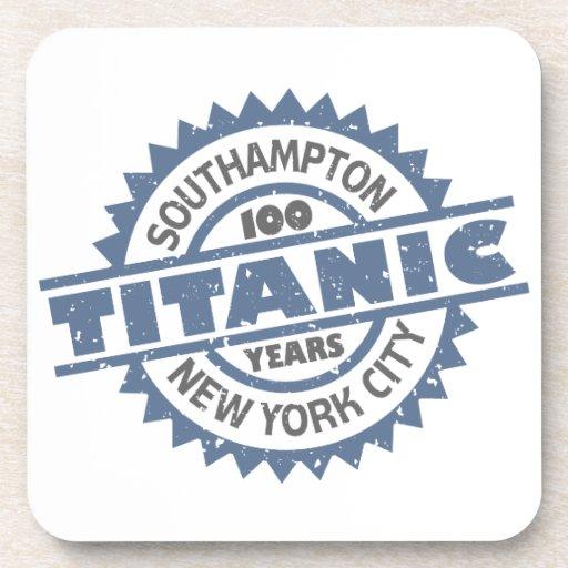 Aniversario de hundimiento titánico de 100 años posavasos