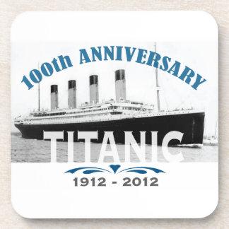 Aniversario de hundimiento titánico de 100 años posavasos de bebidas