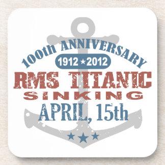 Aniversario de hundimiento titánico de 100 años posavaso
