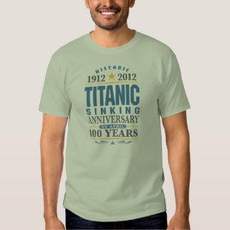 Aniversario de hundimiento titánico de 100 años remeras