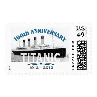 Aniversario de hundimiento titánico de 100 años sello