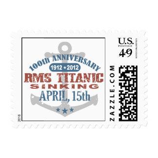 Aniversario de hundimiento titánico de 100 años sellos
