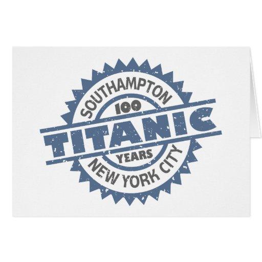 Aniversario de hundimiento titánico de 100 años tarjeta de felicitación