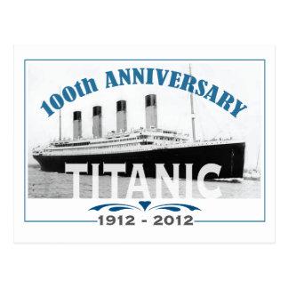 Aniversario de hundimiento titánico de 100 años postales