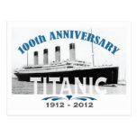 Aniversario de hundimiento titánico de 100 años tarjeta postal