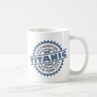 Aniversario de hundimiento titánico de 100 años taza