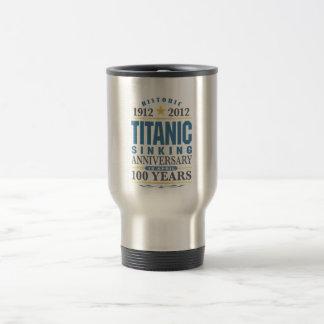 Aniversario de hundimiento titánico de 100 años taza de viaje de acero inoxidable