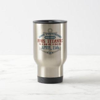 Aniversario de hundimiento titánico de 100 años taza térmica