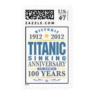 Aniversario de hundimiento titánico de 100 años timbres postales
