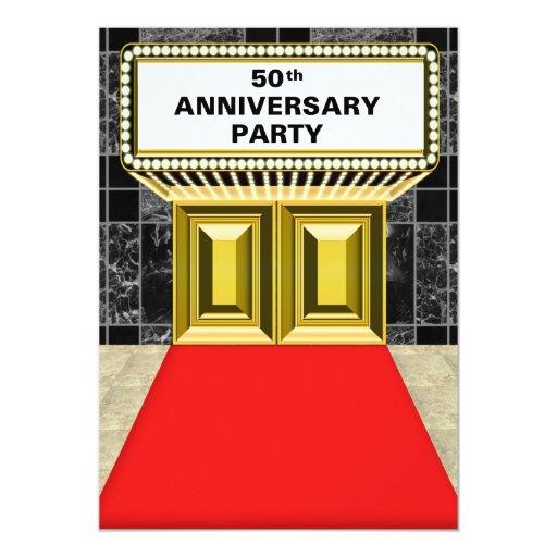 Aniversario de la alfombra roja 50.a de la carpa anuncio personalizado