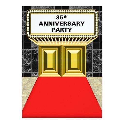 """Aniversario de la alfombra roja de la carpa de invitación 5"""" x 7"""""""