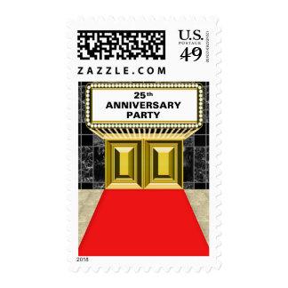 Aniversario de la alfombra roja de la carpa de franqueo