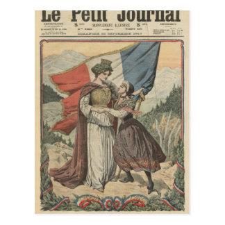 Aniversario de la anexión de la col rizada a postales