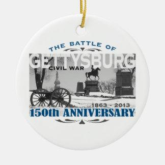 Aniversario de la batalla 150 de Gettysburg Adorno Redondo De Cerámica