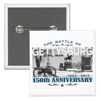 Aniversario de la batalla 150 de Gettysburg Pin Cuadrada 5 Cm