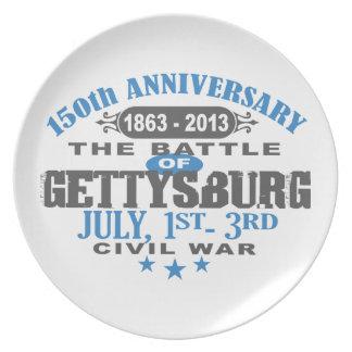 Aniversario de la batalla 150 de Gettysburg Plato De Comida