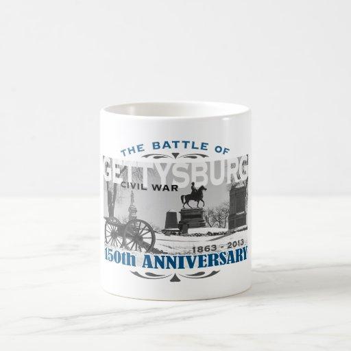 Aniversario de la batalla 150 de Gettysburg Taza Básica Blanca