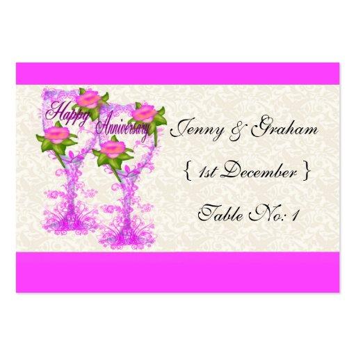 Aniversario de la copa de vino tarjetas de visita grandes