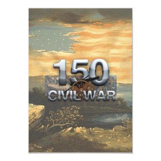 """Aniversario de la guerra civil de ABH 150o Invitación 5"""" X 7"""""""