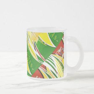 Aniversario de la independencia de guyanés 50.o taza cristal mate