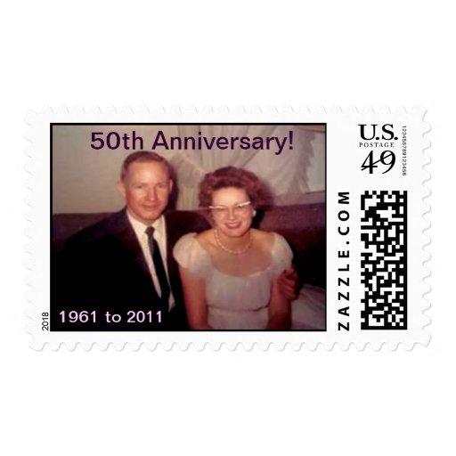 Aniversario de la mamá y del papá 50.o franqueo