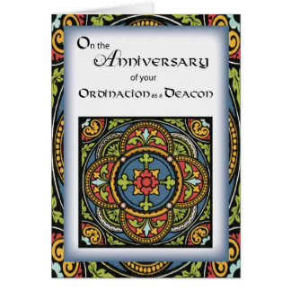 Aniversario de la ordenación a la cruz del diácono tarjeta