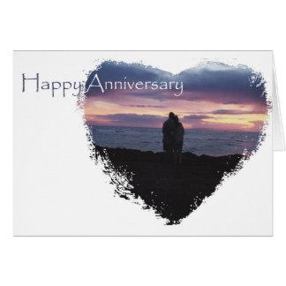 Aniversario de la playa para el marido tarjeta de felicitación