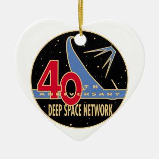 Aniversario de la RED 40 a del ESPACIO PROFUNDO Ornamento De Navidad