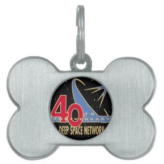 Aniversario de la RED 40.a del ESPACIO PROFUNDO Placa De Nombre De Mascota