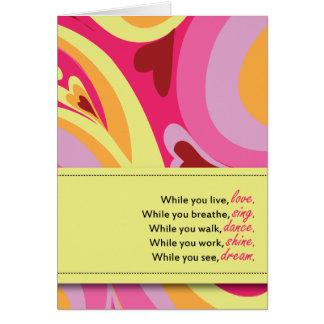 Aniversario de la sobriedad tarjeta de felicitación