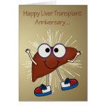 Aniversario de las tarjetas de felicitación del tr