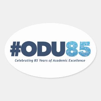 Aniversario de ODU 85o Pegatina Ovalada