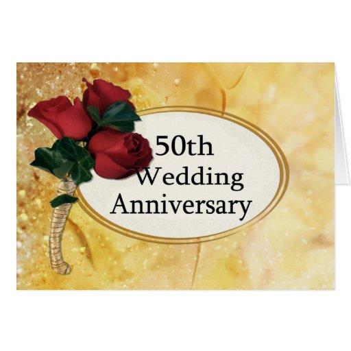 Aniversario de oro 50 tarjeta de felicitación