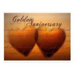 Aniversario de oro de 50 años tarjeta postal