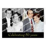 Aniversario de oro del pasado y presente felicitación