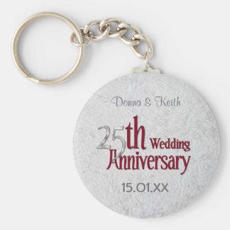Aniversario de plata llaveros