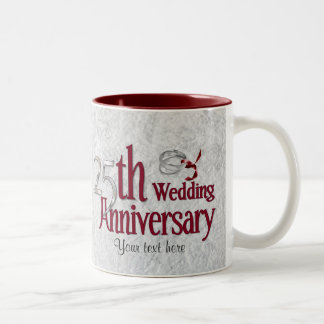 Aniversario de plata tazas
