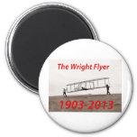 Aniversario del aviador de Wright (1903-2013) Imán Para Frigorifico