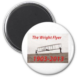 Aniversario del aviador de Wright (1903-2013) Imán Redondo 5 Cm