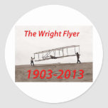 Aniversario del aviador de Wright (1903-2013) Etiquetas Redondas
