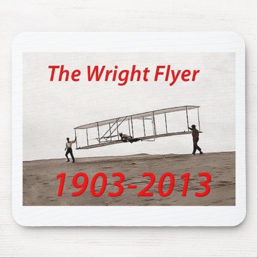 Aniversario del aviador de Wright (1903-2013) Tapete De Ratón